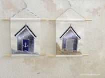 Beach House Textile Art