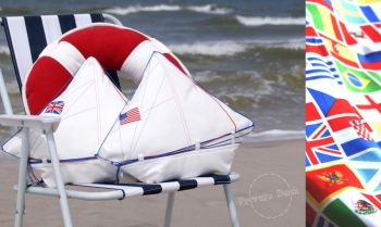 Yacht Pillows with national flag