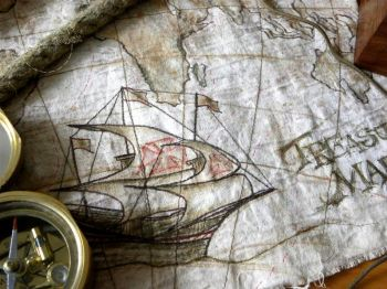 Treasury Map - Nautical Art
